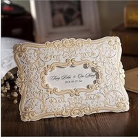 luxury wedding invitations free customize inner sheets flower patterns birthday party invitation cards wedding accessories fast delivry - Luxury Wedding Invitations