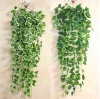 Popular Home Decor Planta Verde Ivy Leaf Artificial Flower Plastic Garland Vine pared de flores artificiales