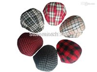 Wholesale Beret Kids Plaid Hats - Free shopping 2015 Spring and Autumn Kids Fashion Berets Plaid Hats For Baby Boy And Girl Hat And Cap 11 Colors