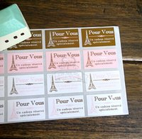Wholesale Stickers Paris - Free shipping four color Paris tower decoration gift wrapping sticker decorative stickers dessert bag box sealing paster pasters