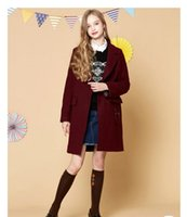 Wholesale Unique Letter V - 2017 Autumn Fall new college wind lapel woolen coat female Variety of styles and Unique style