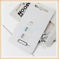nano plateau 4s achat en gros de-4 In 1 Noosy Sim Adaptateur Pour Iphone 5 Iphone 4 4S Noosy Nano Micro Carte SIM Adaptateur Noir Blanc sim titulaire de plateau de carte avec boîte de détail