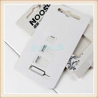 nano tray 4s großhandel-4 In 1 Noosy Sim Adapter für Iphone 5 Iphone 4 4S Noosy Nano Micro SIM Karte Adapter Schwarz Weiß SIM Kartenhalter mit Kleinkasten