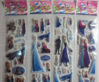 Wholesale Childrens Cartoon Stickers - 2015 Hot Sale Design elsa and anna Cute Toy Stickers Cartoon Craft Scrapbook Stickers Awards Childrens Products Gifts 17cm*7cm Free Shipping