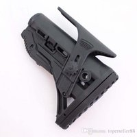 Wholesale Fab Defense - GL-SHOCK Shock Absorbing Collapsible Butt Stock w  Adjustable Cheek Rest Black without No FAB-Defense Logo