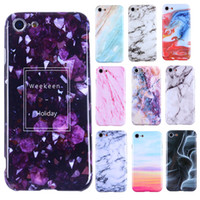 Wholesale Design Chrome - Marble Design Case Chrome Phone Shell Soft TPU Cases Cover For iPhone X 8 7 6 6s Plus