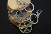 Wholesale Hunger Games Figures - The Hunger Games Catching Fire Bird Metal Keychain Pendant Metal Figure Toy Accessories Key Chain Movie Jewelry