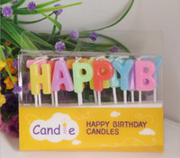 Wholesale Happy Birthday Candles Wholesale - Happy birthday Art candle kids gift mini candles Birthday exotic atmosphere source valentine' day gift decoratiions