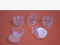 kalp şekli pot toptan satış-500 adet / grup Kalp Şekli 4g Temizle Plastik Örnek Konteynerler Kapaklı Mini PS Kavanoz Boş Kozmetik Ambalaj Pot Kutusu