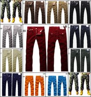 Wholesale Corduroy Jeans - Army Camouflage Men Jeans 2015 New Arrival U.S famous Brand Men Jeans Pants Casual Corduroy Try Designer Camo Jeans size 30--40 in stock