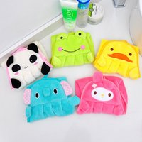 Wholesale Kitchen Towels Rags Wholesale - Cartoon Dishcloth For Kitchen Hanging Type Water Uptake Rag Coral Velvet Hand Towel Many Styles 1 88ld C R