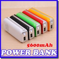 Wholesale Emergency Charger Iphone 5s - Wholesale -5600mah Phone Power Bank Emergency External Battery Charger panel USB for iphone 5S 6 6S Galaxy S4 i9600 S5