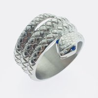 Wholesale Cock Ring Styles - 2017 New Private Design Penis Ring Glans Ring Snake head style Metal Male chastity device Male Cock Ring