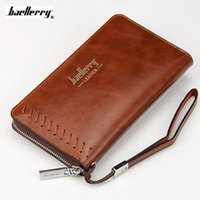 Wholesale Slots Cash - Wallet Men Credit Card Holder Male Big Long Purse PU Leather Money Cash Clutch Zipper Pocket Maschio Portafoglio Casual Handbag