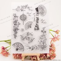 16 * 21cm Japan transparenter freier Silikon Stempel für DIY Scrapbooking / Card Anrufen / Kinderhandwerks-Fun Dekoration Supplies