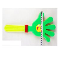 Wholesale Sound Device For Toys - Wholesale-20 Pieces 28cm colorful small Plastic Clap For Palm Shoot Toy Clap Hands Device for Festival Party sound toys Free Shipping