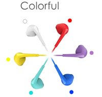 Wholesale Blue Earbuds Volume Control - IH900 3.5mm Wired Earphones Twins Earphones Colorful Stereo Earbuds In Ear Bass Line Volume Control Mic For iPhone Samsung Android Phone