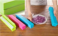 Wholesale Foil Wrap Dispenser - Hot Selling Plastic Food Wrap Dispenser Aluminum Foil Wax Paper Cutter 3colors