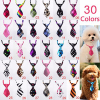 Wholesale Cat Ties - 100pc lot Factory Sale New Colorful Handmade Adjustable Dog Ties Pet Bow Ties Cat Neckties Dog Grooming Supplies P01