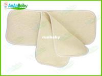 couches de bébé bio achat en gros de-AnAnBaby chanvre inserts en bambou bio Livraison gratuite Fibre 4 couches réutilisables bébé en tissu Tapis couches Nappy Inserts