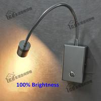luzes de campista 12v venda por atacado-Luzes de LED Topoch Dimmable Modos de iluminação dupla Toque ON / OFF / Dim Switch Faróis direcionais Lente de foco LED 3W para barcos de campista do quarto