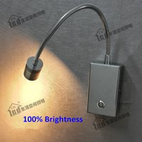liderliğindeki spotlar 12v tekne toptan satış-Topoch Dim LED Işıklar Çift Aydınlatma Modları Dokunmatik ON / OFF / Dim Anahtarı Yönlü Spot Odaklama Odaklama Lens için Lens 3W LED