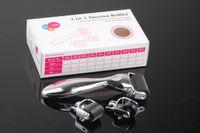 ingrosso terapia a micro ago di rullo derma-Sistema di cura della pelle Microneedle Roller Therapy Sistema infermieristico 3in1 Sistema micro Derma Roller Derma ad aghi