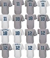 05742e88391 2017 Mens Ladys Kids Toddlers New York 11 Brett Gardner 12 Chase Headley 18  Didi Gregorius White Gray Cool Flex Base Baseball Jerseys ...
