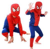 Halloween Kinderkleidung, Kinder Halloween Maskottchen Spiderman Kostüme, Kinder Spider-Man Kostüm Party