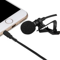 Wholesale Wire Clip Mic - 3.5mm TRRS Jack Omnidirectional Lapel Clip-on Omnidirectional Condenser Microphone Lapel Microphone Mic for iPhone iPad iPod Smartphones