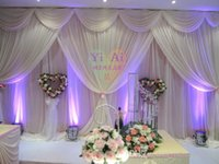 Wholesale Korean Table Decorations - 2015 New Creative Korean Ice Silk Wedding decoration   Wedding Backdrop 3m*6m(10ft*20ft) Props Curtain Decorations High Quality