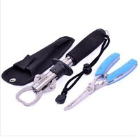 Wholesale Fishing Pliers Set - Stainless steel fish control grip gripper lure multifunctional plier hook plier fish pliers Fishing Tools Tackle set FREE SHIPPING