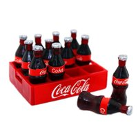 1:12 Miniature Dollhouse Cola Coke Bottiglie <b>Soda Soft Drinks</b> Bevanda Scenario Modello 12pcs