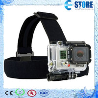 Wholesale Harness Pro - Go Pro Accessories Adjustable Harness Head Strap Belt Mount For GoPro Hero 4 Session 3+ 3 2 SJ4000 SJ5000 SJ6000 SJCAM Xiaomi Yi