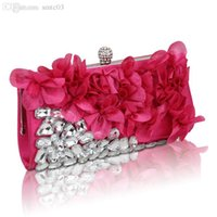 Wholesale New Style Wedding Frames - Wholesale-2015 The New Day Clutches Lady Unisex Chains Solid Versatile Special Diamond Petal Dinner Evening Bag Bride Wedding Banquet Hand