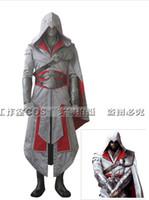Wholesale Assassin Creed Cosplay Brotherhood - New design custom made Assassin's Creed 2 II Assassins Creed Brotherhood Ezio Cosplay Costume Master Ezio Costume