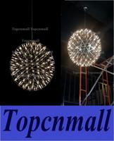 Wholesale Led Fireworks Ball - Hot Sell Modern Stainless Steel LED Pendant Lights Firework Light Ball Restaurant Living Room Loft Lights Shops Lights110-240V