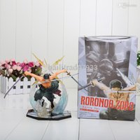 Оптово-аниме One Piece POP Roronoa Зоро 17см Banpresto фигурку Colossum новые с коробкой