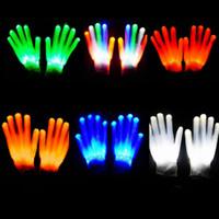 Wholesale Novelty Signs Wholesale - LED Lighting Gloves Flashing Cosplay Novelty Gloves Led Light Toy Flash Gloves for Sign Language Halloween Christmas Party Decoration Light
