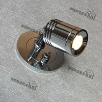 Wholesale Elegant Light Switch - Wall Recessed Lights with on-off switch 3W CREE LED Position flexible Exquisite design Elegant Comfortable without glare Chrome finish