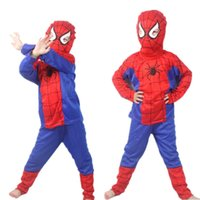 Wholesale Christmas Sexy Boy - Free drop shipping 10 piece lot 2015new arrival super man The Amazing Spider-Man 2 costume spiderman suit spiderman GIRL BOY child 2-9 year