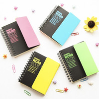Wholesale Word Notebooks - Wholesale- 1 pcs Korean Stationey Creative Language Study Vocabulary Word Book,Portable Spiral School Notebook Small Writing Note Books