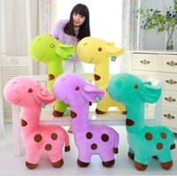 Wholesale Little Giraffe Toys - Wholesale-2015 Hot Sale Lovely Giraffe Dear Soft Plush Toy Cute Little Baby Animal Doll Colorful Adorable Plush Toys Gifts