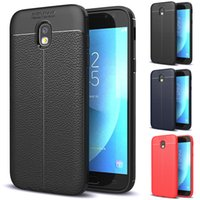 Wholesale Auto Notes - For iPhone X Business Litchi Stria Leather Pattern Soft TPU Silicone Back Gel Cover Auto Focus for iPhone 8 7 6 6S Plus X Galaxy Note 8
