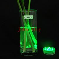 base de luz floral al por mayor-Venta al por mayor maravilloso 10 LED de múltiples colores sumergible a prueba de agua decoración del banquete de boda florero base de luz envío gratis