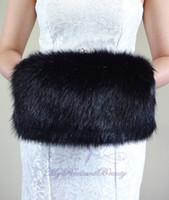 Wholesale High Quality Wedding Gloves - High Quality Faux Fur Winter Hand Muff Ivory White Black Red Color Cheap Warm Bridal Handwarmers Wedding Gloves Accessories
