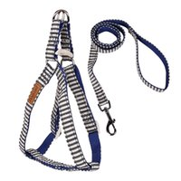 2017 Flessibile a mano Stripes Double Deck Pet pettorale Strap Facile da estrarre Walk Dog Cat Rope Dog Chain