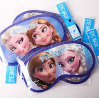 Wholesale Child Sleep Mask - Frozen Elsa Anna eye patch Mask Sleeping Mask Blindfold travel Shade Padded Sleep Aid Eye Cover children studentversion christmas gift new