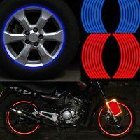 Wholesale Hot Wheels Stickers Bikes - Hot sale Polyethylene Terephthalate 17inch Wheel Sticker Reflective Rim Stripe Tape Bike Motorcycle Car Drop shipping