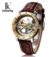 Wholesale Men S Analog Wrist Watches - Creative Fashion Brand Designers Watches Men Luxury Automatic Self Winding Wrist Watches Male Clock Gift Whatches IK (98393G-S)